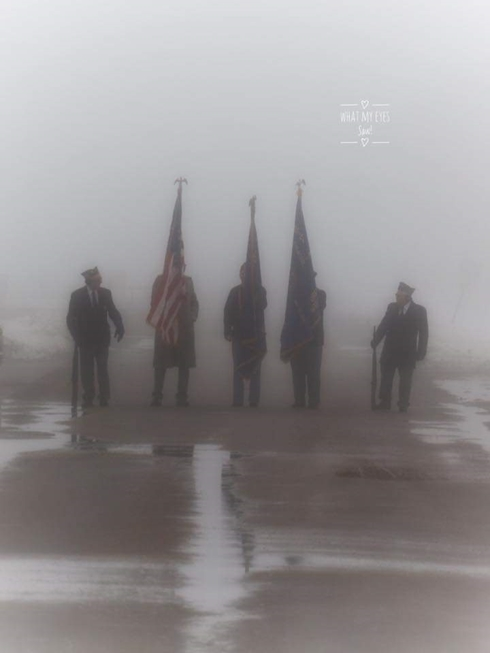 Color Guard in the fog 2019 490