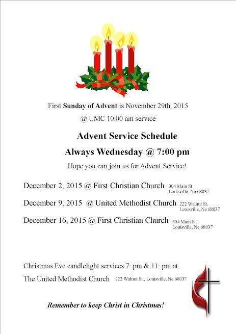 Advent Service_Schedule