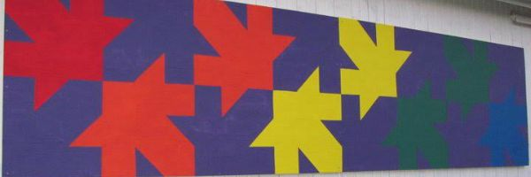 Falling Leaves Barn Quilt