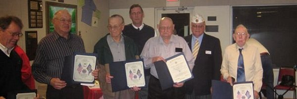 30, 40, 50, 60, and 65-year members of American Legion Post #100